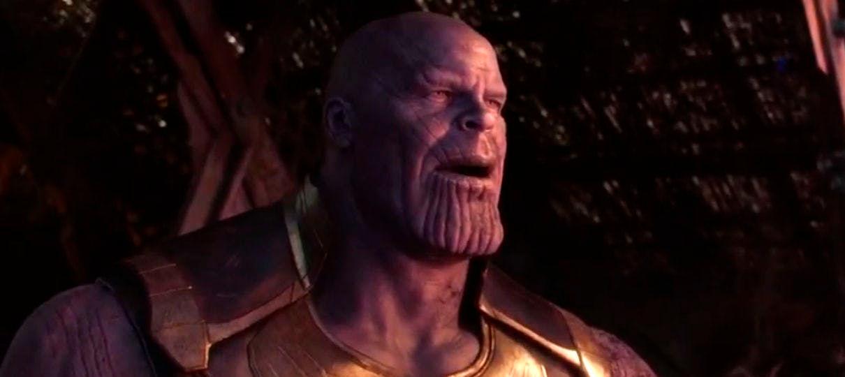 Arte de Vingadores: Ultimato mostra Thanos com braço machucado depois do uso da Manopla