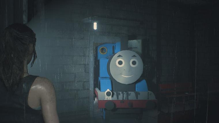 Mod coloca Thomas, o Trem, como o Mr. X de Resident Evil 2