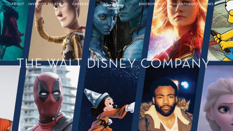Disney atualiza seu site e inclui Avatar, Deadpool e Simpsons como personagens da casa