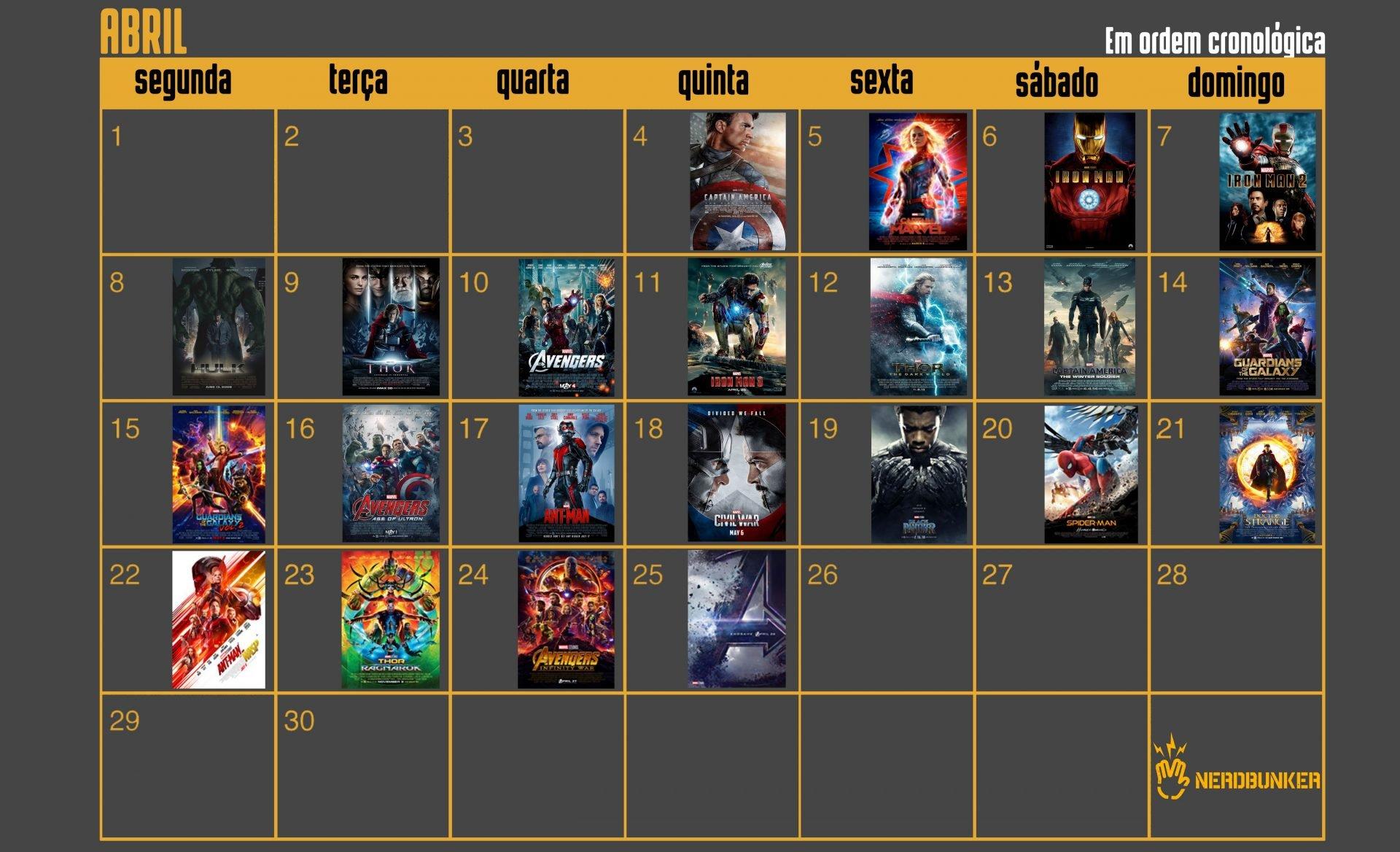Maratona Marvel Ordem Cronológica