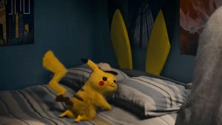 Detetive Pikachu | Pokémon zoa a escolha de cama do protagonista humano em comercial
