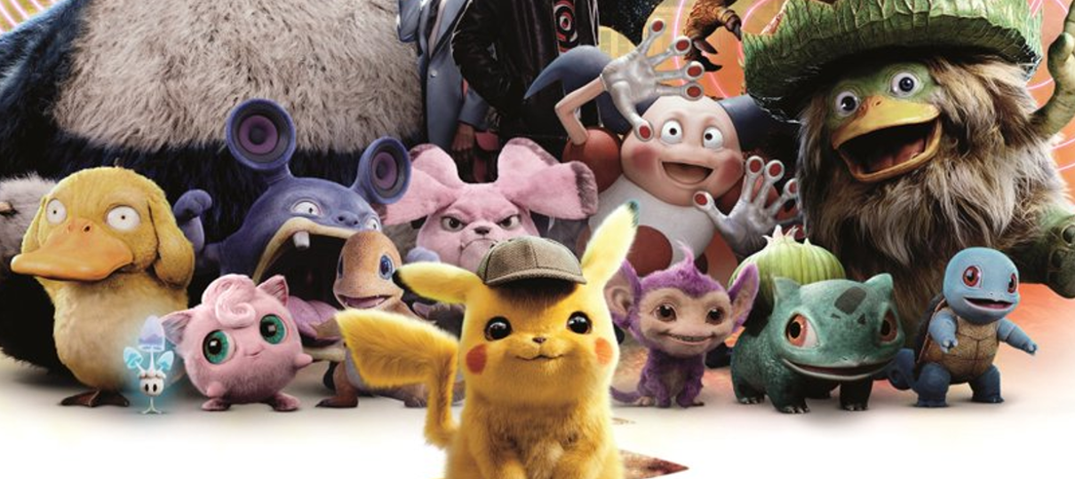 Detetive Pikachu | Pokémon se enfileiram em novo cartaz do filme