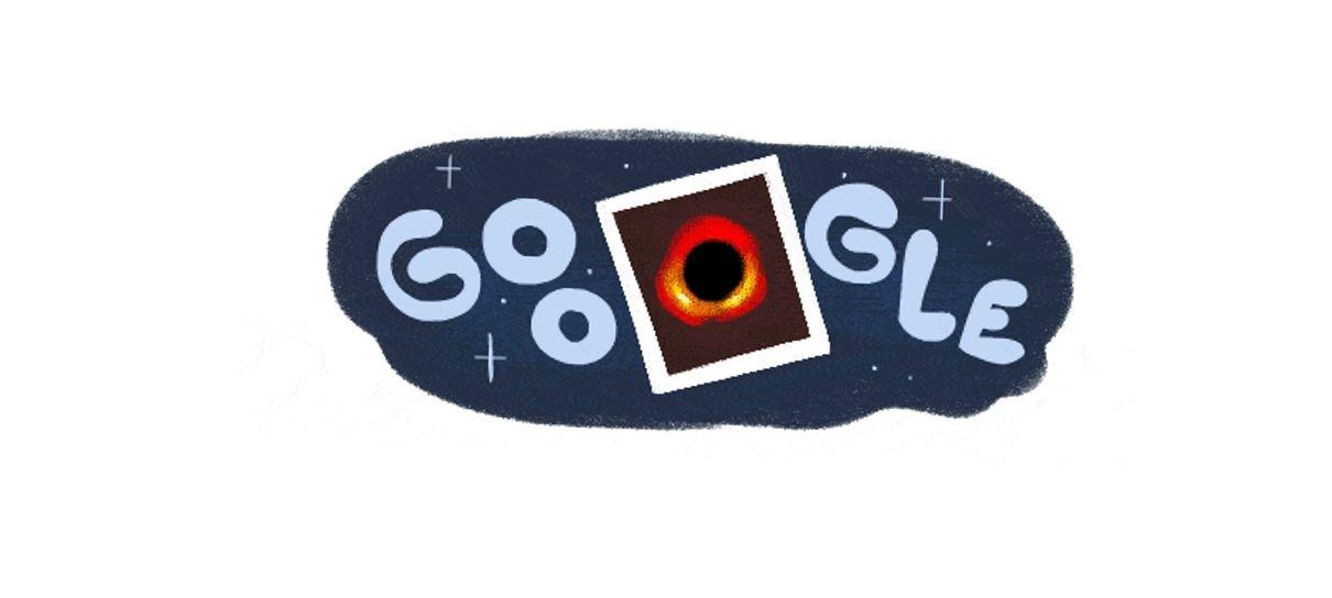 Google cria Doodle com primeira imagem de buraco negro