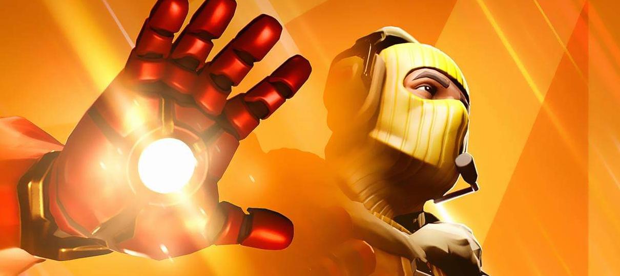 Evento crossover entre Fortnite e Vingadores ganha teaser com Homem de Ferro