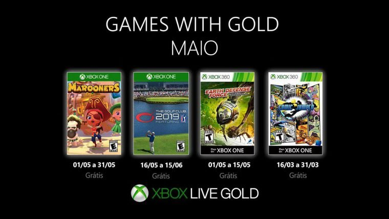Games With Gold maio