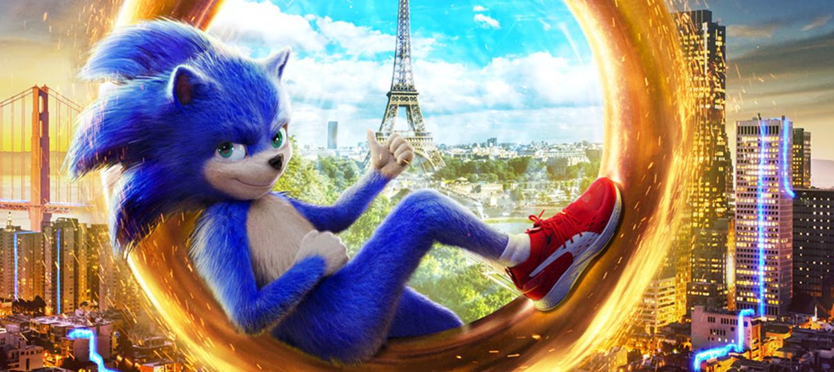 Sonic: O Filme | Ouriço abre um portal para Paris em cartaz brasileiro