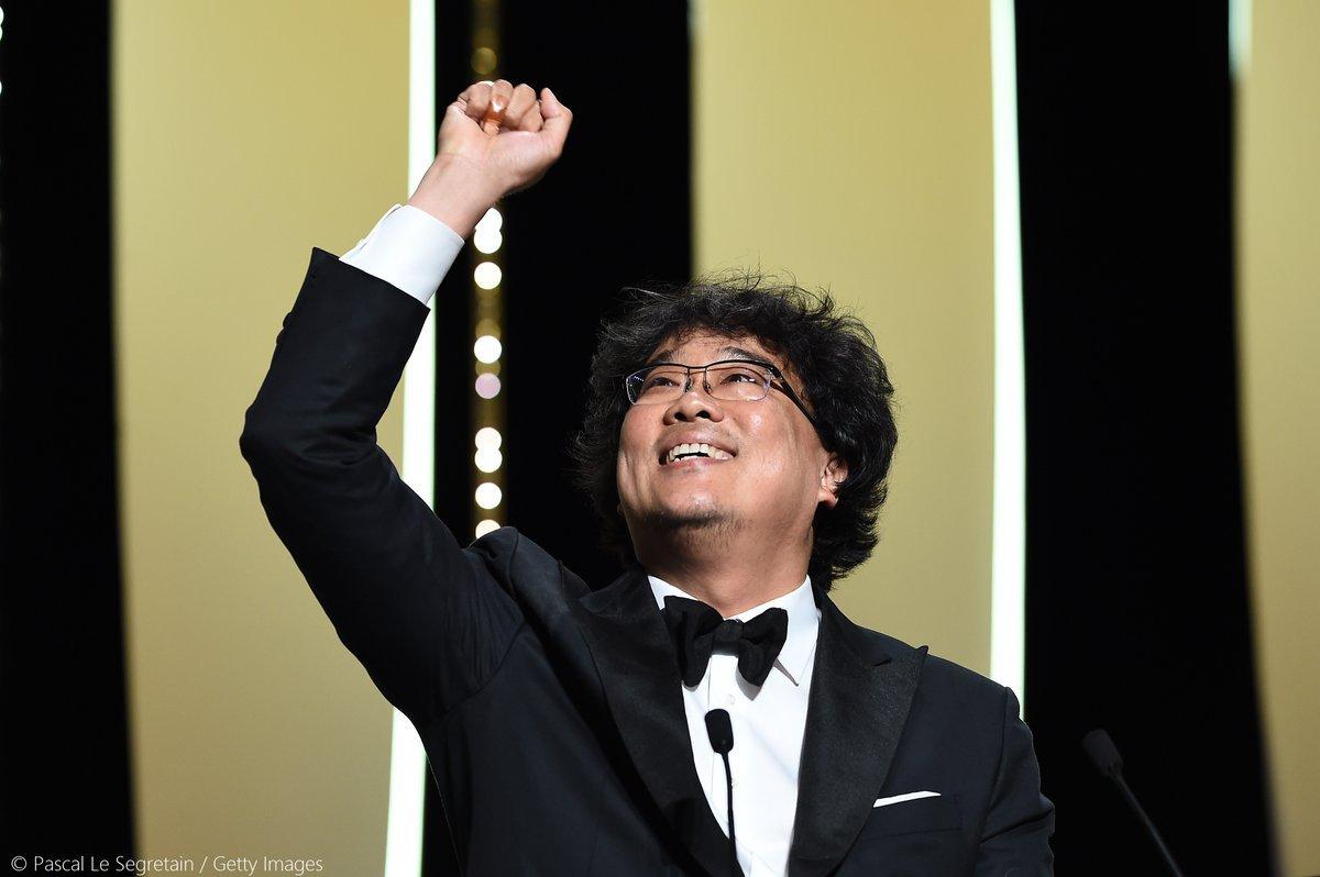 Cineasta sul-coreano, Bong Joon-ho, recebe a Palma de Ouro em Cannes