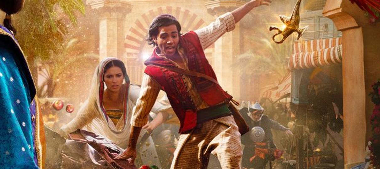 Aladdin ganha novo pôster com Gênio e Jasmine