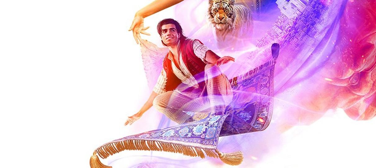 Aladdin voa no seu tapete em novo cartaz do longa