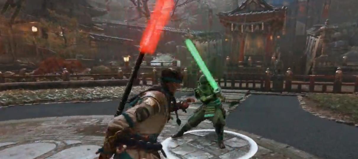 Armas de For Honor viram sabres de luz para comemorar o Dia de Star Wars