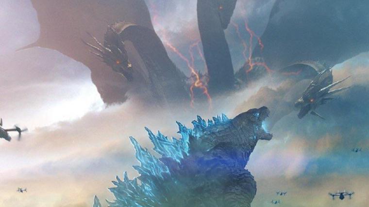 Rei Ghidorah enfrenta titãs em novos cartazes de Godzilla II: Rei dos Monstros