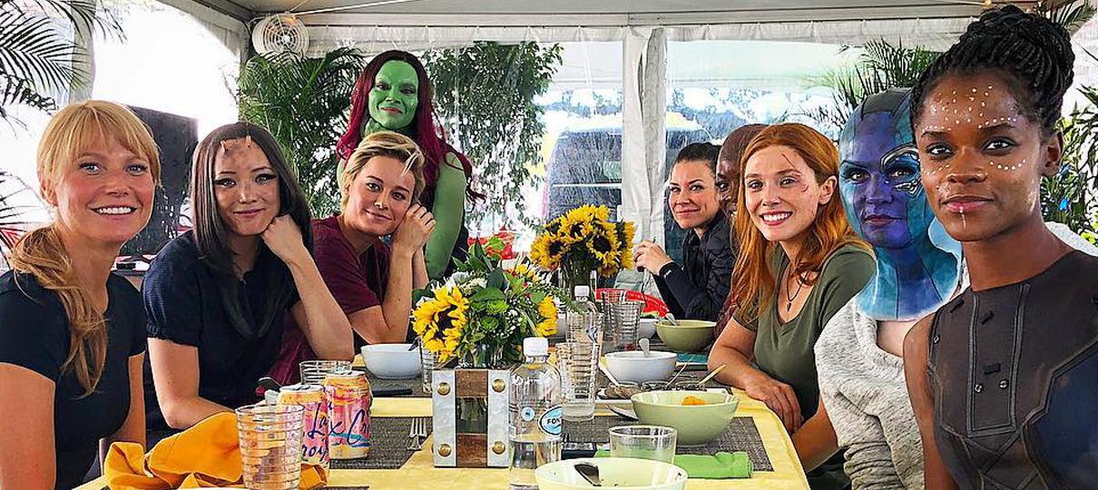 Robert Downey Jr. publica foto com as mulheres do Universo Marvel