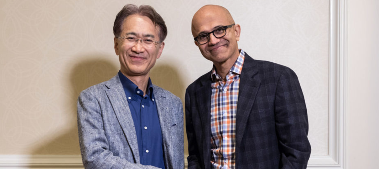 Microsoft e Sony anunciam parceria para gaming e serviços de nuvem