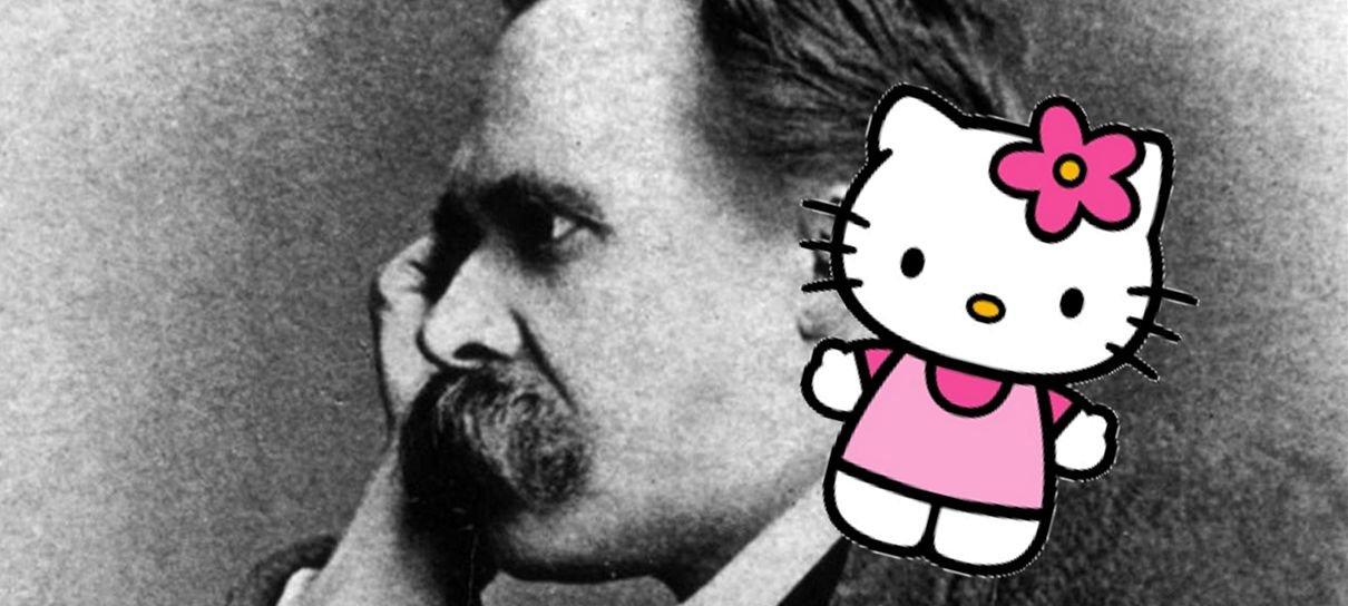 O maior encontro de todos os tempos? Hello Kitty faz crossover com Nietzsche