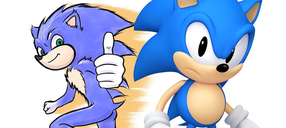 Sonic: O Filme | Artista que fez o design original do personagem desenha a versão do filme