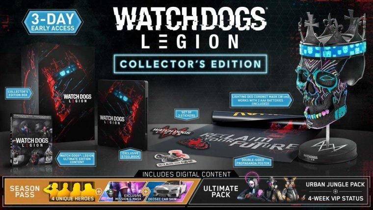 Watch Dogs: Legion edição colecionador