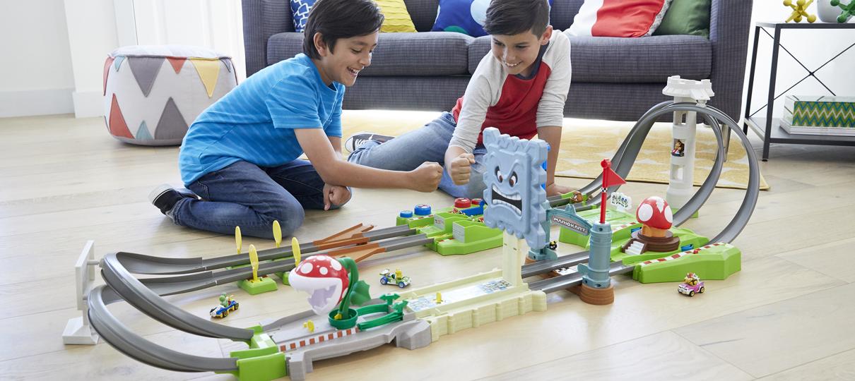 Parceria entre Nintendo e Hot Wheels traz pistas de Mario Kart e miniaturas dos carrinhos