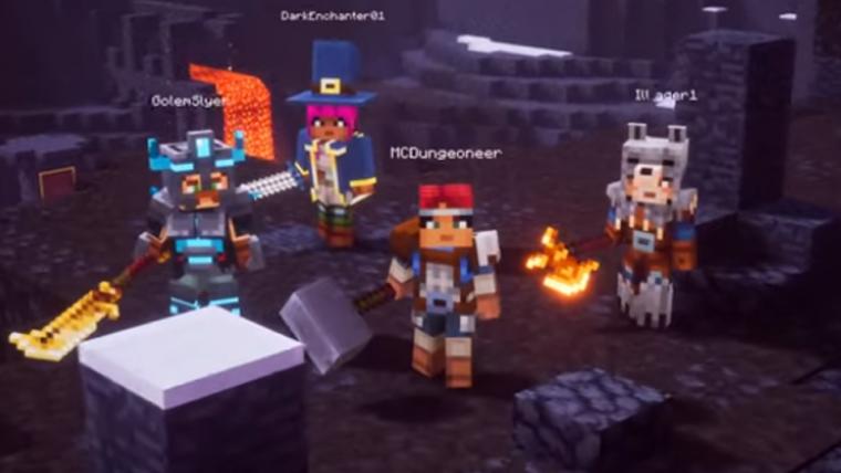 Minecraft Dungeons ganha data de lançamento