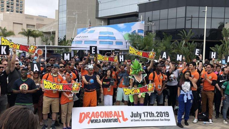 Dragon Ball   Fãs tentam bater recorde de maior Kamehameha na SDCC 2019