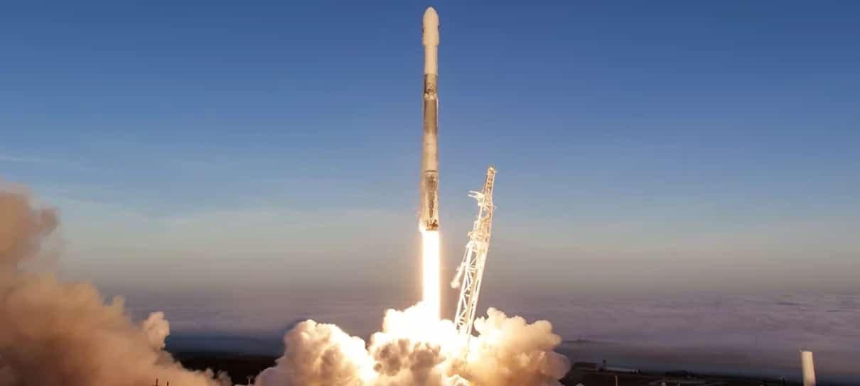 Confira o momento do lançamento de foguete da SpaceX