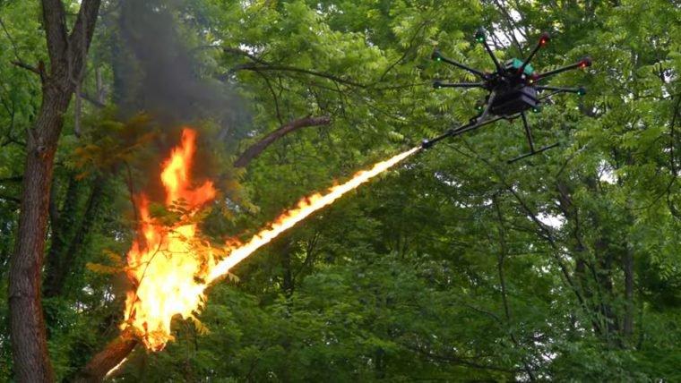 Você pode comprar um drone equipado com lança-chamas