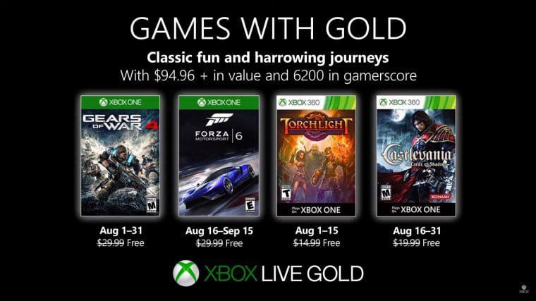 games with gold agosto 2019