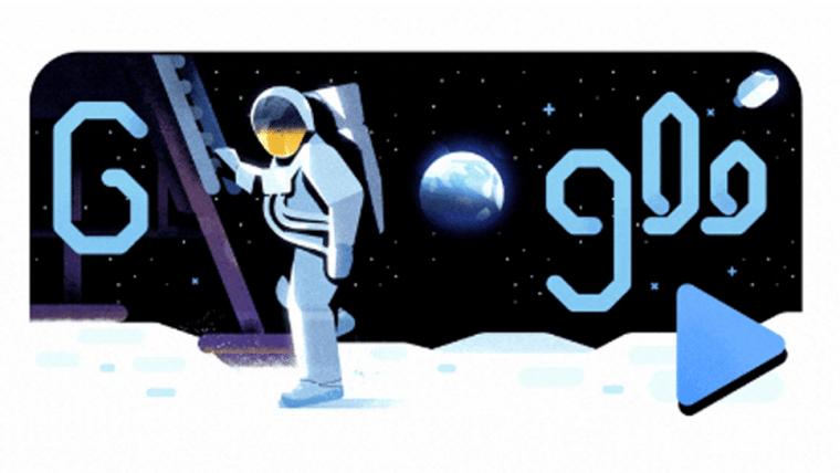 Google Doodle homenageia os 50 anos da missão Apollo 11
