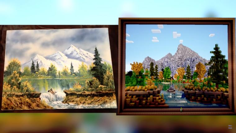 Minecraft bob ross