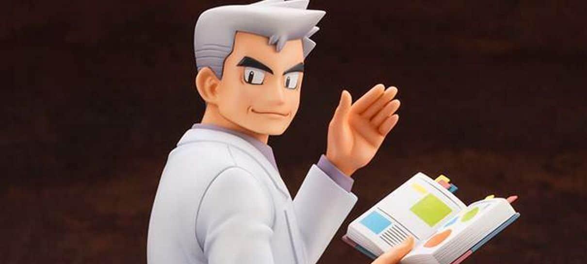 Relembre o começo da sua jornada Pokémon com um figure do Prof. Carvalho