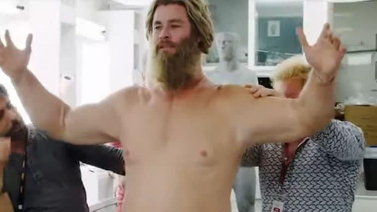 Chris Hemsworth se diverte com transformação para Vingadores: Ultimato
