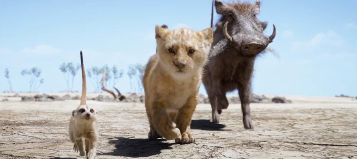Timão e Pumba são destacados em novo teaser de O Rei Leão