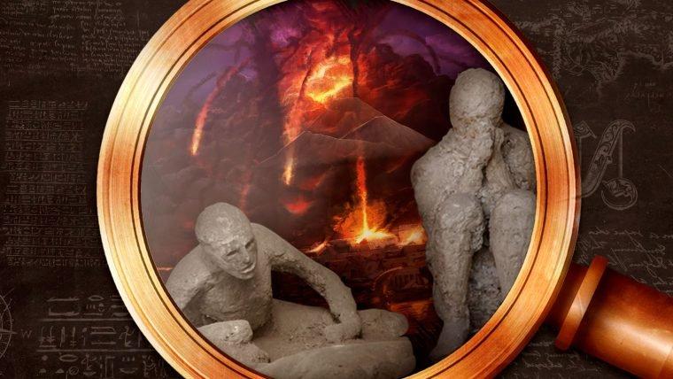 Pompéia e o vulcão Vesúvio