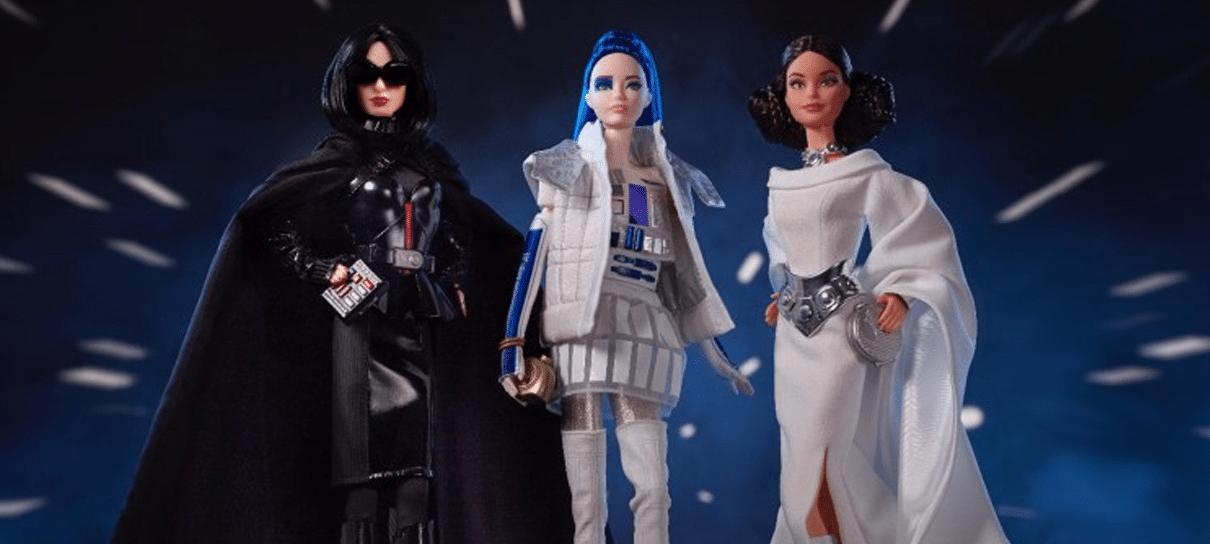 Mattel revela coleção de Barbies de Star Wars