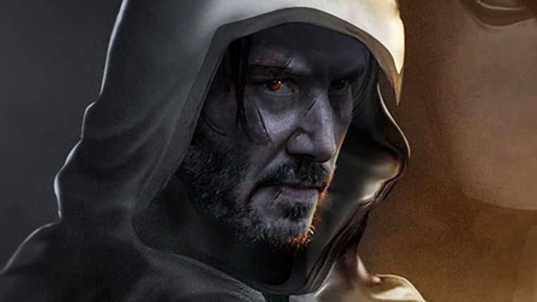 BossLogic imagina Keanu Reeves como o Cavaleiro da Lua em arte