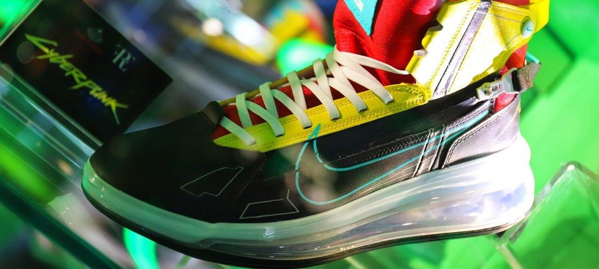 Microsoft vai sortear um par de tênis inspirado em Cyberpunk 2077 na Gamescom