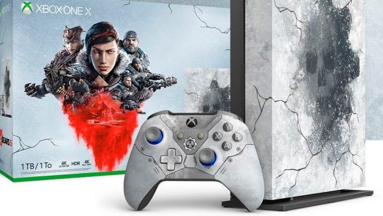 Microsoft anuncia Xbox One X edição limitada de Gears 5 e acessórios temáticos