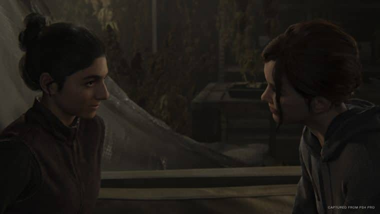 Ellie e Dina em The Last of Us Part II