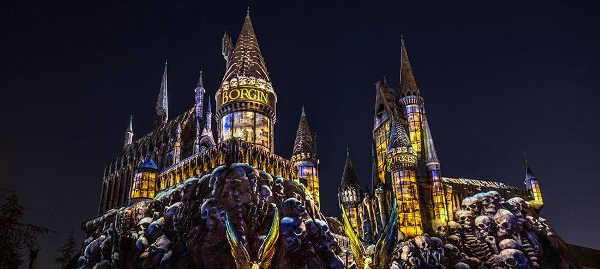 Castelo de Hogwarts, na Universal Orlando, ganha novo show de luzes