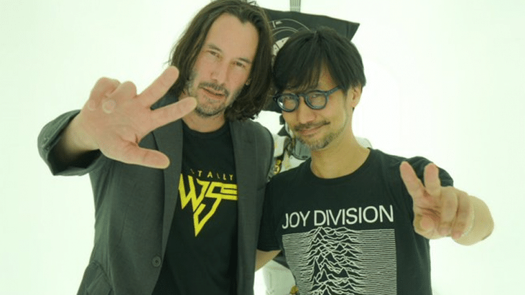Keanu Reeves visitou estúdio de Hideo Kojima