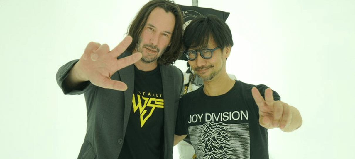 Keanu Reeves visitou estúdio de Hideo Kojima