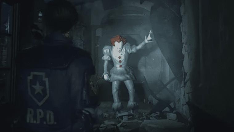 Mod de Resident Evil 2 transforma Mr. X em Pennywise, de It: A Coisa