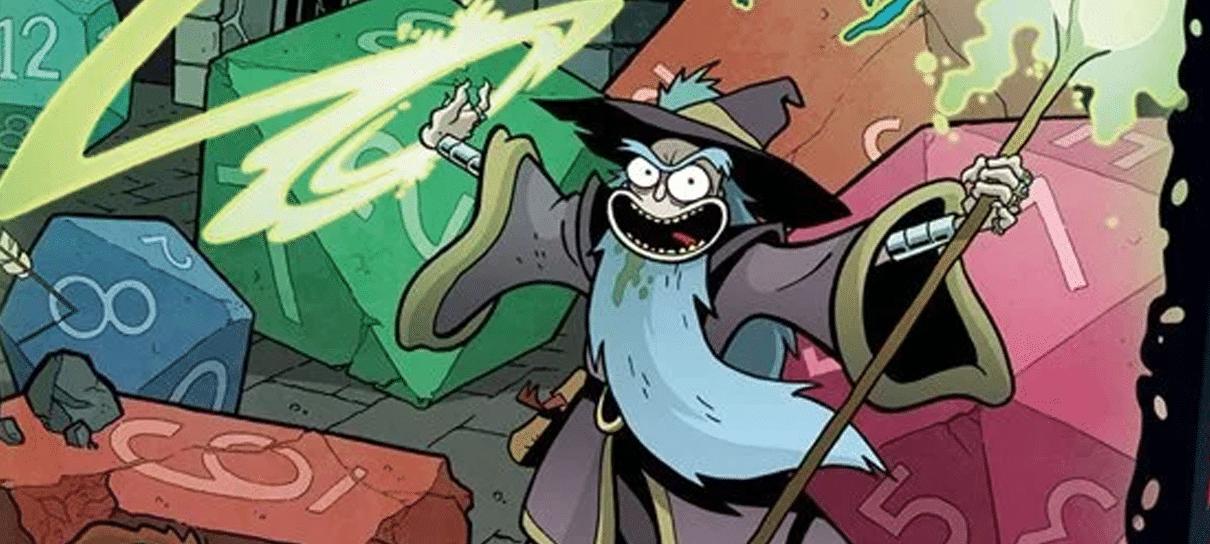 Crossover de Dungeons & Dragons e Rick and Morty vira campanha oficial