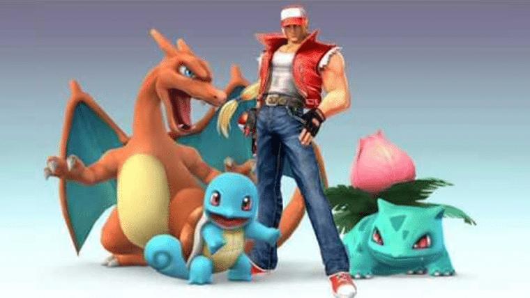 Fãs estão achando Terry Bogard parecido com Treinador Pokémon no Smash
