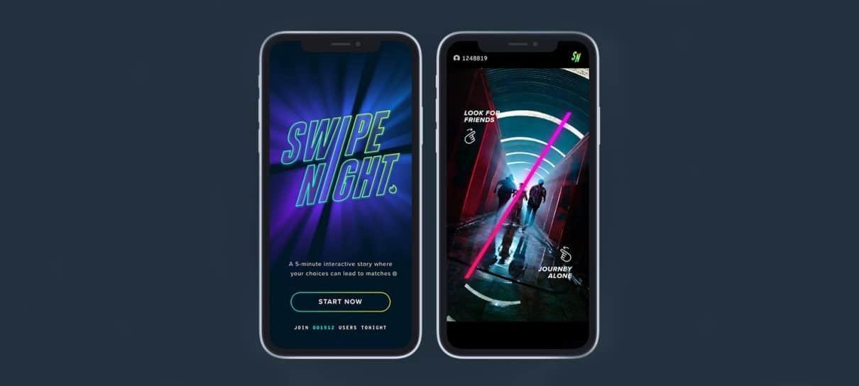 Tinder anuncia a série interativa Swipe Night
