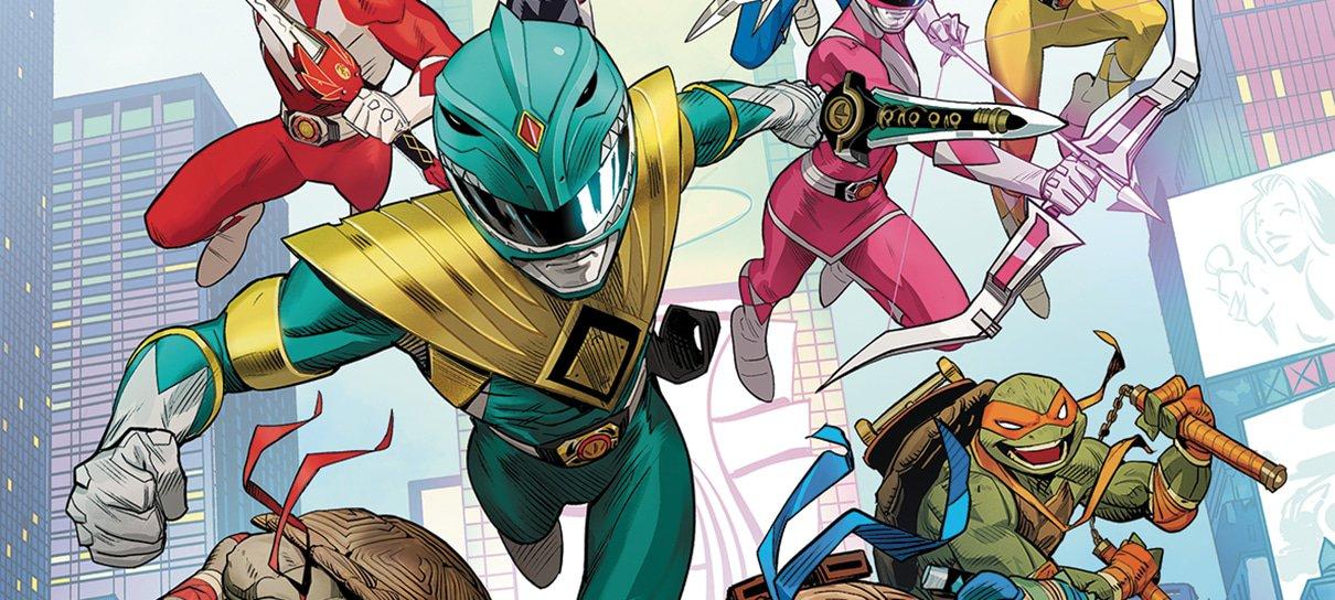 Tartarugas Ninjas e Power Rangers ganharão crossover em HQ