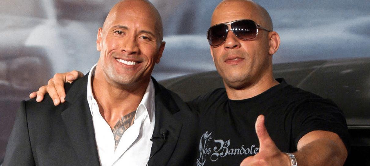 Hobbs & Shaw   The Rock publica vídeo agradecendo Vin Diesel e encerra treta antiga