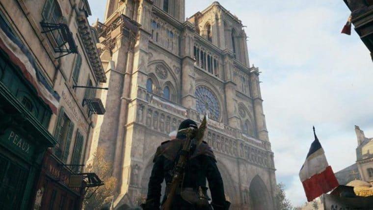 Ubisoft promove tour em realidade virtual pela Catedral Notre-Dame em Paris