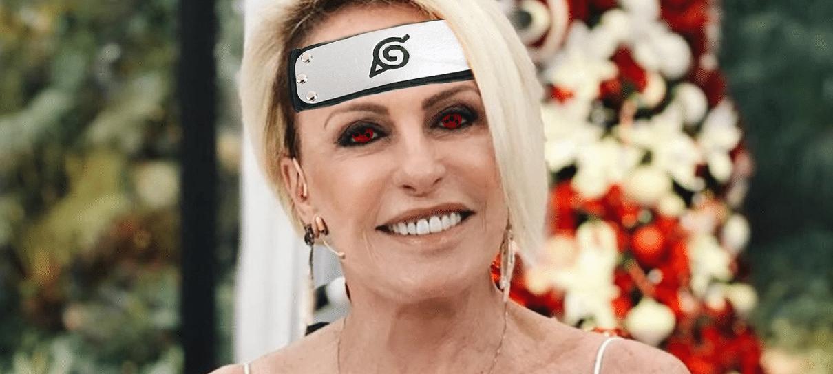 Ana Maria Braga começa o Mais Você com abertura de Naruto