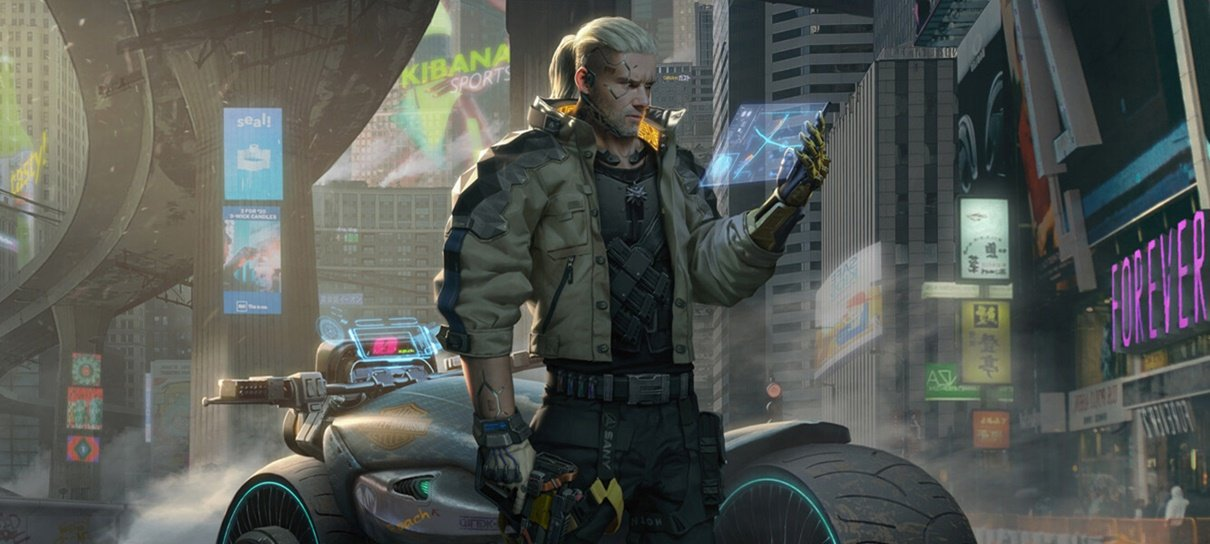 Artista imagina Geralt em Cyberpunk 2077