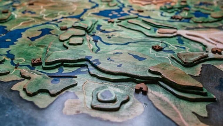 Fã cria mapa topográfico de Zelda: Breath of the Wild